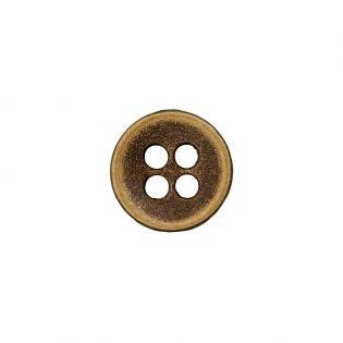 Metallknopf - 4-Loch - 9 mm - messing