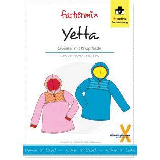 Schnittmuster - Farbenmix - Yetta -Sweater mit Knopfleiste