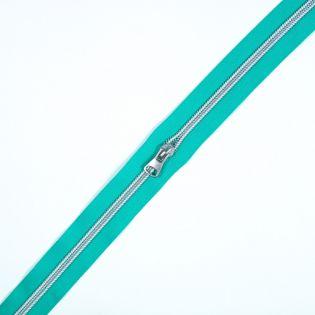 Spiralreißverschluss - S80 - Meterware - mit Zipper - türkis