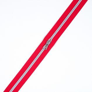 Spiralreißverschluss - S80 - Meterware - mit Zipper - rot