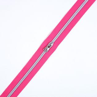 Spiralreißverschluss - S80 - Meterware - mit Zipper - pink