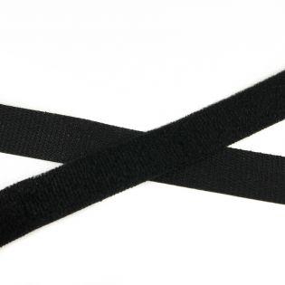 Klettband zum Kleben - schwarz