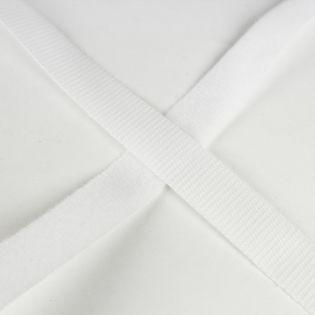 Klettband zum Kleben - weiß