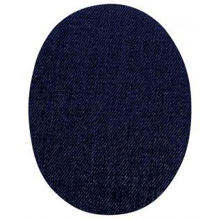 2x Aufbügelflecken - Jeans - schwarz - klein