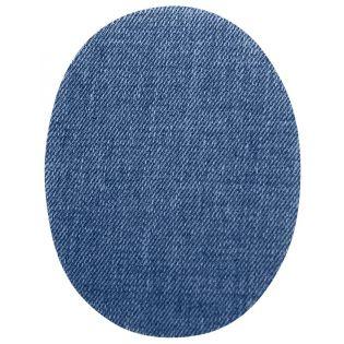 2x Aufbügelflecken - Jeans - blau - klein