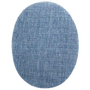 2x Aufbügelflecken - Jeans - hellblau - klein