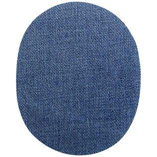 2x Aufbügelflecken - Jeans - blau - groß
