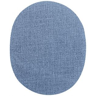 2x Aufbügelflecken - Jeans - hellblau - groß