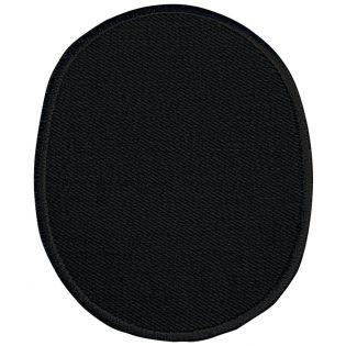 2x Aufbügelflecken - Jeans - umkettelt - schwarz