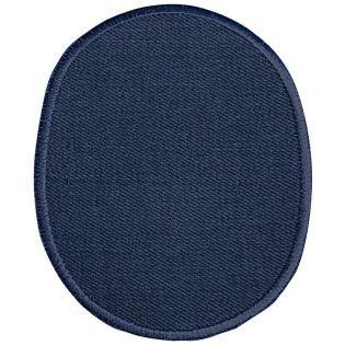 2x Aufbügelflecken - Jeans - umkettelt - blau
