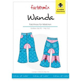 Schnittmuster - Farbenmix - Wanda - Patchhose für Mädchen