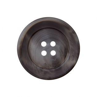 4-Loch-Knopf - marmoriert - 34 mm - grau