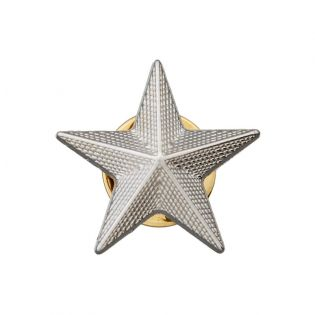 Pin - Stern - 20 mm - silber