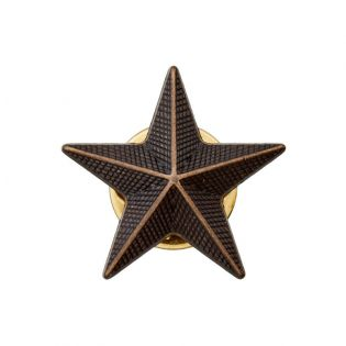Pin - Stern - 20 mm - brüniert