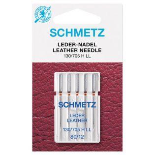 Schmetz - 5 Nähmaschinennadeln - 130/705 H-LL - Leder 80 - 100