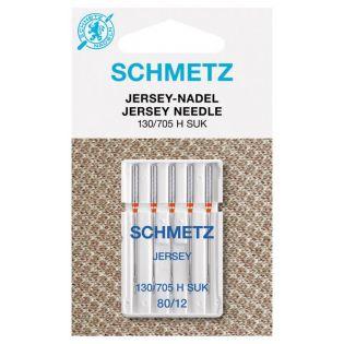 Schmetz - 5 Nähmaschinennadeln - Jersey - 130/705 H SUK - 80/12