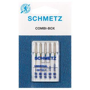 Schmetz - 5 Nähmaschinennadeln - Combibox - 130/705H-JS  - 70-90