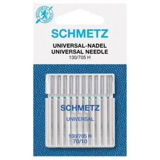 Schmetz - 10 Nähmaschinennadeln - Universal - 130/705 H 70/10