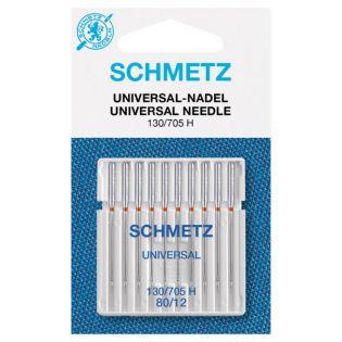 Schmetz - 10 Nähmaschinennadeln - Universal - 130/705 H 80/12