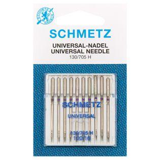 Schmetz - 10 Nähmaschinennadeln - Universal - 130/705 H 100/16