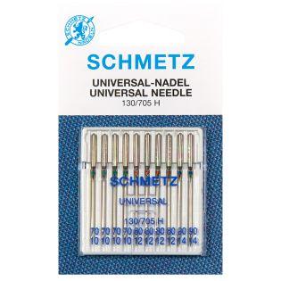 Schmetz - 10 Nähmaschinennadeln - Universal - 130/705 - 70-90