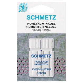 Schmetz - Nähmaschinennadel - 130/705 H - Hohlsaum - 100/16