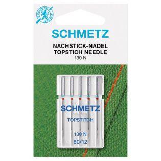 Schmetz - 5 Nähmaschinennadeln - 130N St.80 - Topstich