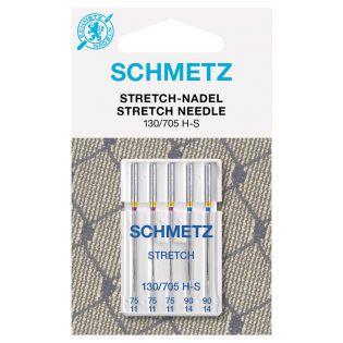 Schmetz - 5 Nähmaschinennadeln - 130/705 - Stretch - 75-90