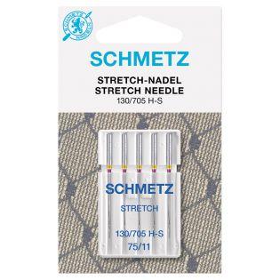 Schmetz - 5 Nähmaschinennadeln - 130/705 - Stretch - 75