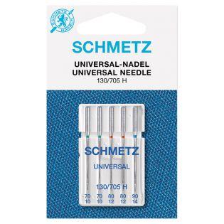 Schmetz - 5 Nähmaschinennadeln - 130/705 - Universal - 70-90