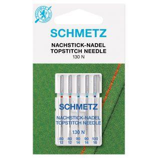 Schmetz - 5 Nähmaschinennadeln - Universal - Topstitch - 80-100