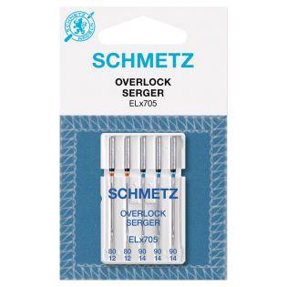 Schmetz - 5 Nähmaschinennadeln - Overlock - ELx705 - 80/90