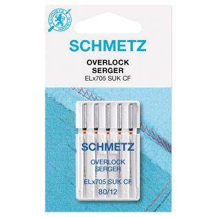 Schmetz - 5 Nähmaschinennadeln - ELX705 - SUK - CF - Overlock - Jersey - 80/12