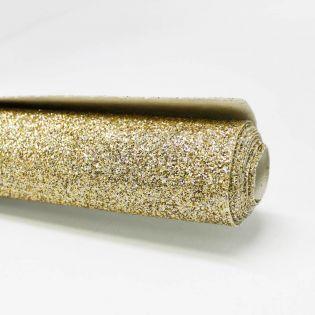 Deko - Glitzerstoff - Zuschnitt - 68 x 45 cm - gold