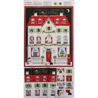 Dekostoff - Adventskalender - Panel - Haus