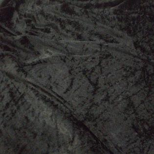 Pannesamt - uni - schwarz
