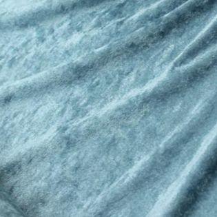 Pannesamt - uni - taubenblau