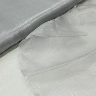 Organza - uni - silber