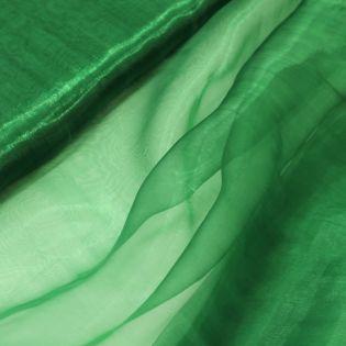 Organza - uni - tannengrün