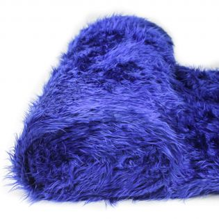 Zottelplüsch - uni - blau