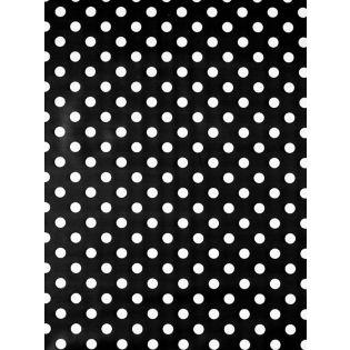 Wachstuch - Punkte - schwarz