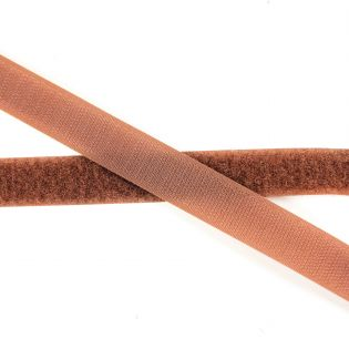 Klettband zum Nähen - 50 cm - braun