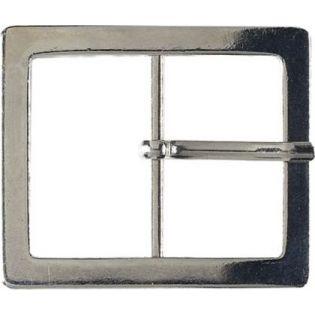 Gürtelschnalle - Metall - 40mm - silber