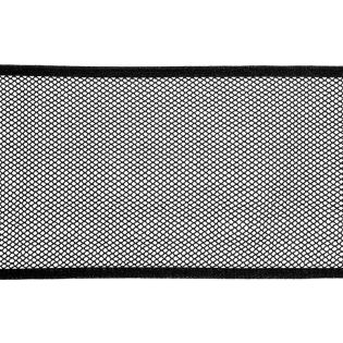 Mesh-Gewebe - Netzfutter - Taschennetz - 140 mm - schwarz