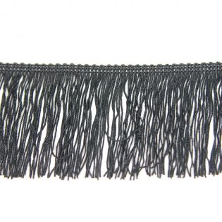 Fransenband - Viskose - 70 mm - schwarz