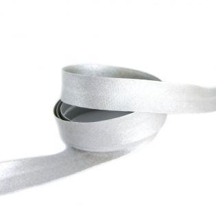 Baumwollschrägband - Glamour - uni - 30/18 - silber