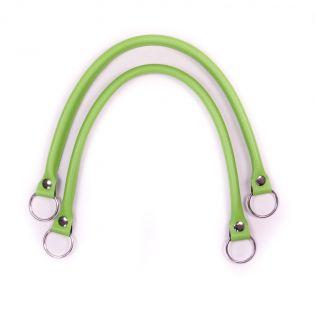 Taschengriff - Lederoptik - 55 cm - grün