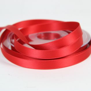 Satinband - Doubleface - 10 mm - rot