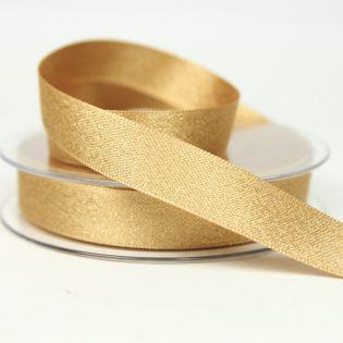 Satinband - Glitzer - gold - 15 mm - gold
