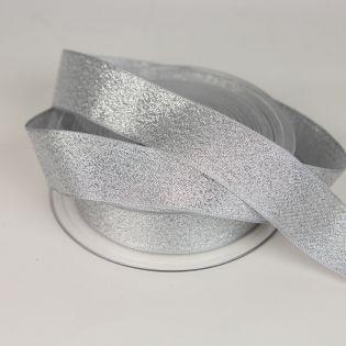Lamé-Band - Glitzer - 25 mm - silber
